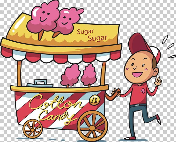 Hawkers logo clipart image freeuse download Cotton Candy Hawker Drawing Illustration PNG, Clipart, Adobe ... image freeuse download