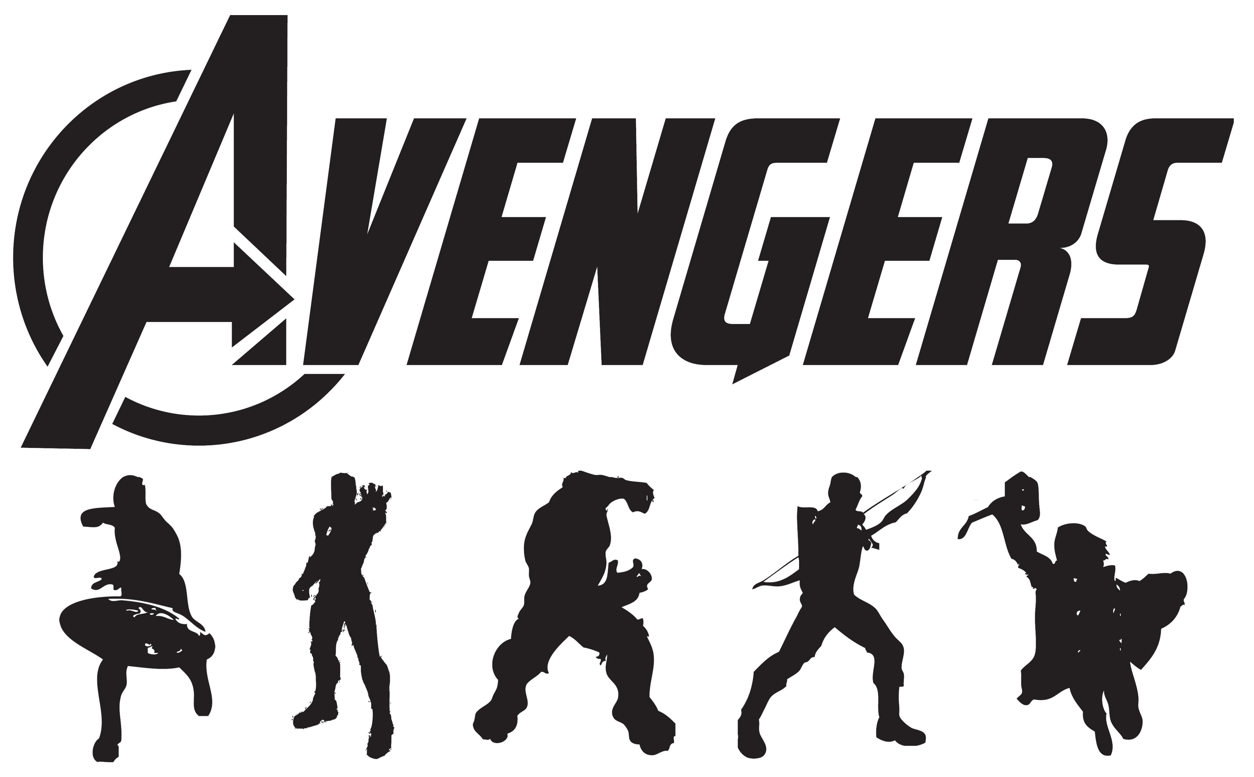 Hawkeye logo marvel clipart picture black and white Marvel Black And White Clipart - Clipart Kid picture black and white