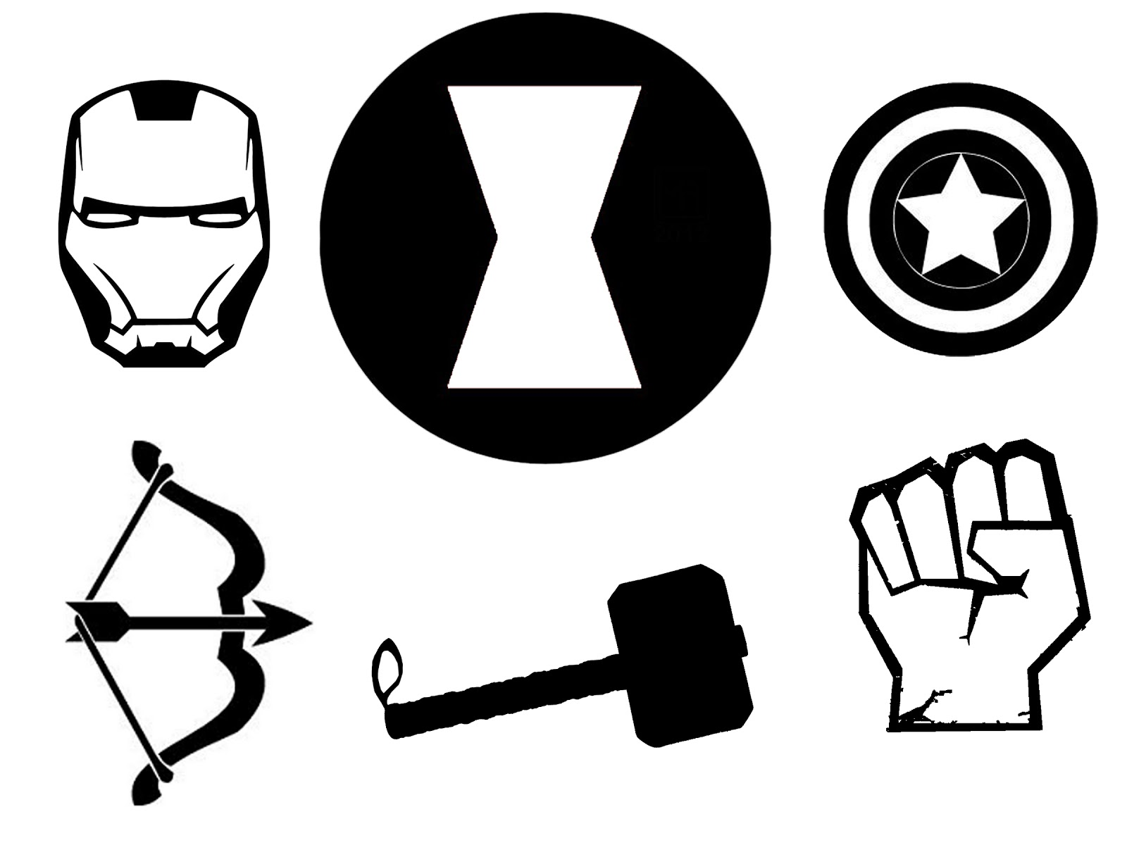 Hawkeye logo marvel clipart png black and white library 17 Best images about clip art on Pinterest   Vinyl decals ... png black and white library