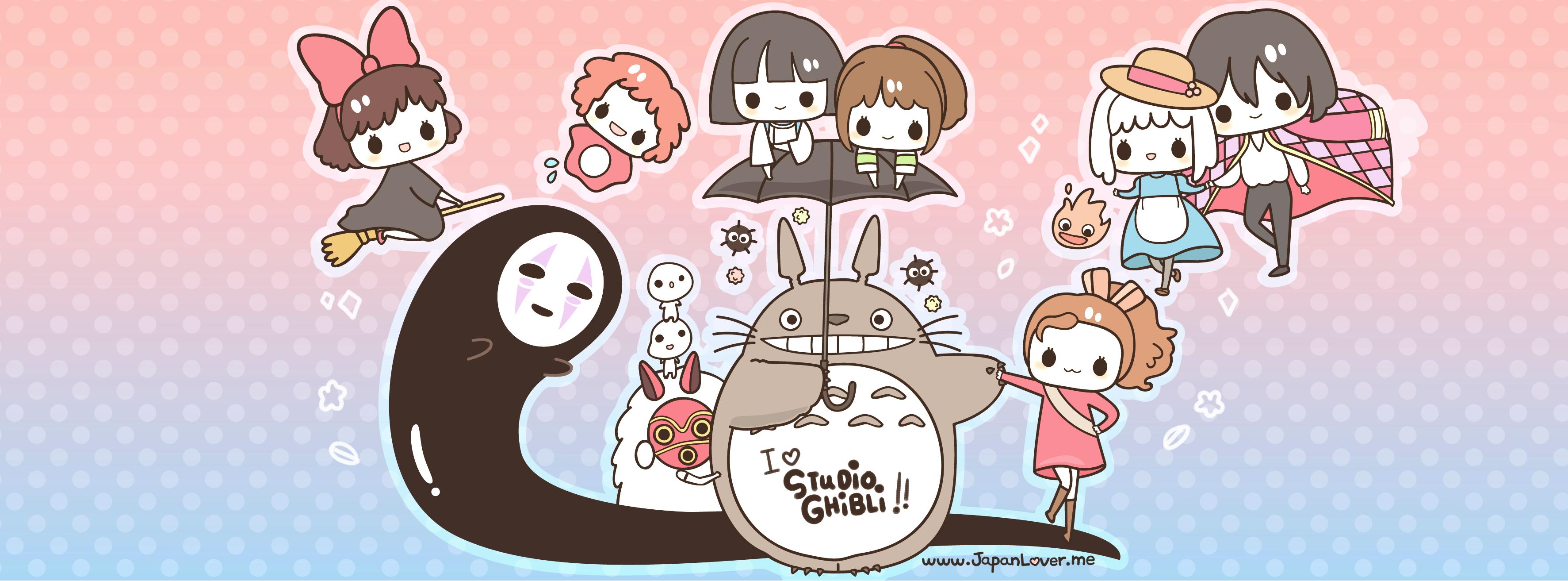 Hayao miyazaki clipart banner Facebook Cover Art Ghiblimonth cover cool website | โทโทโร่ | Kawaii ... banner