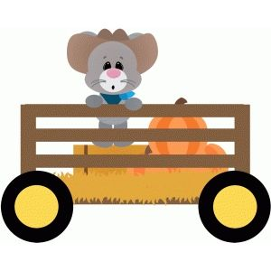 Hayrides clipart image free stock Silhouette Design Store: mouse in wagon hayride   Free Svg invites ... image free stock