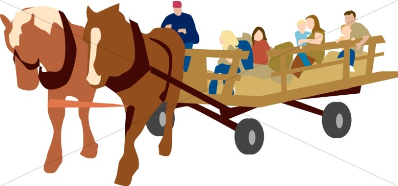 Hayrides clipart clipart freeuse download Hayride and Horses   Church Activity Clipart clipart freeuse download