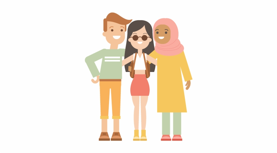 Hd image clipart of three different people together vector free Placing Three People Together - Illustrator Free PNG Images ... vector free