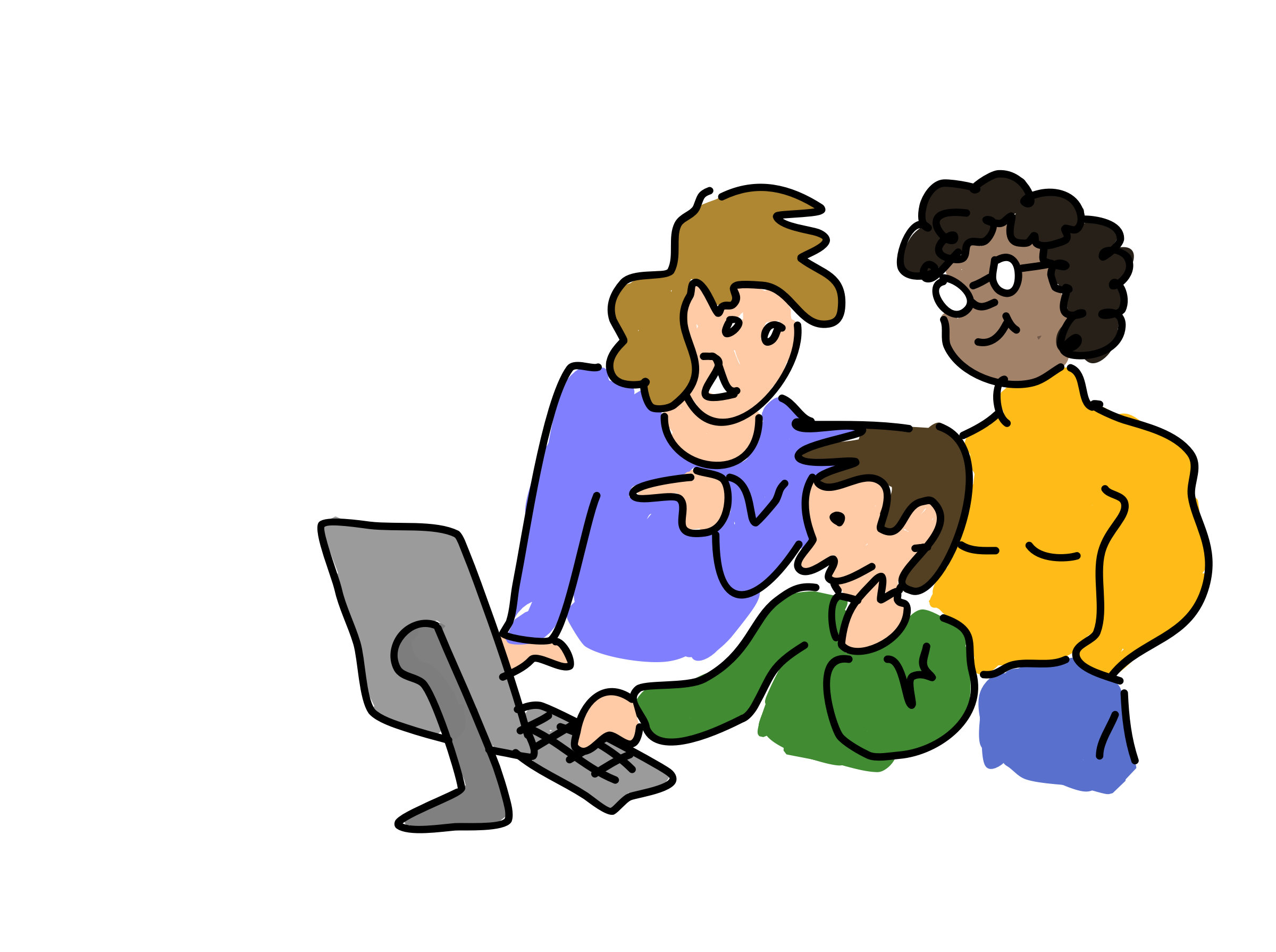 Hd image clipart of three different people together image royalty free library People Working Together PNG Transparent People Working Together.PNG ... image royalty free library