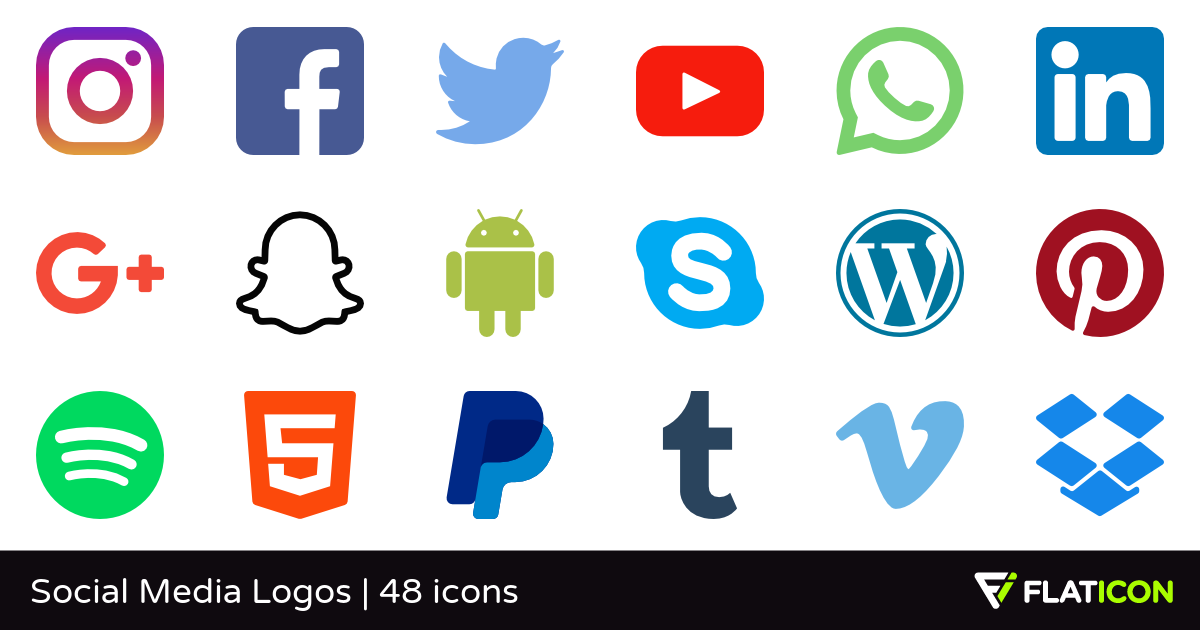 Hd social media icons clipart vector freeuse Social Media Logos 48 free icons (SVG, EPS, PSD, PNG files) vector freeuse