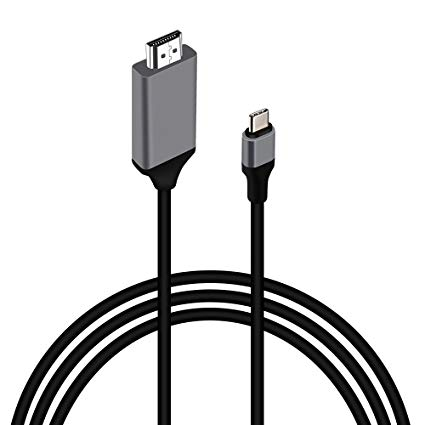 Hdmi cable clipart clip art free library USB C to HDMI Cable(4K@30Hz/6.6ft/2.0m) MOREFINE USB 3.1 Type C Male  (Thunderbolt 3) to HDMI Male 4K Adapter Cable for MacBook Pro iMac  ChromeBook ... clip art free library