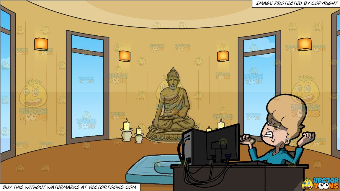 He got game clipart clip freeuse stock A Man Outraged By The Information He Got Over The Internet and Meditation  Room Background clip freeuse stock
