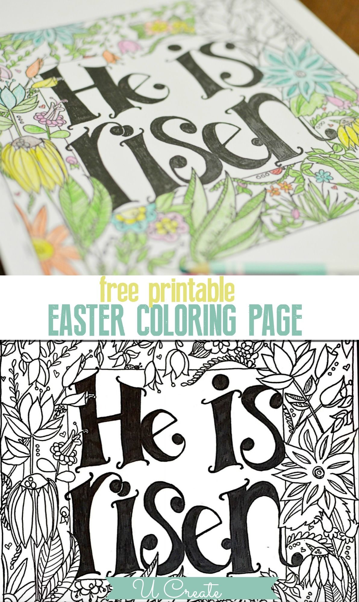 He is risen easter craft clipart for free jpg transparent He is Risen Coloring Page | FREE COLORING PAGES | Easter coloring ... jpg transparent