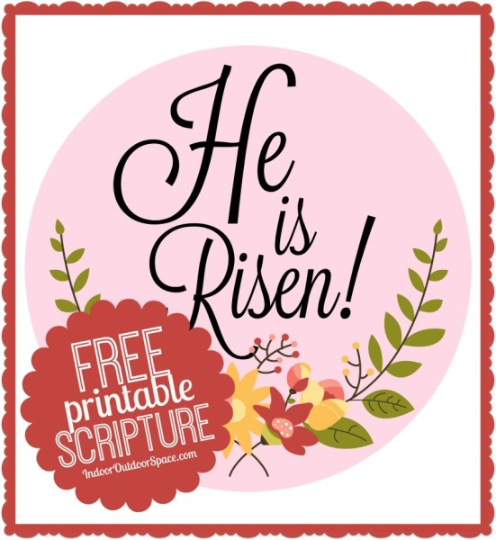 He is risen easter craft clipart for free clipart royalty free Easter He is Risen Scripture 1-inch Circles Free Printable | Indoor ... clipart royalty free