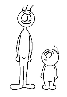 He is taller clipart black and white