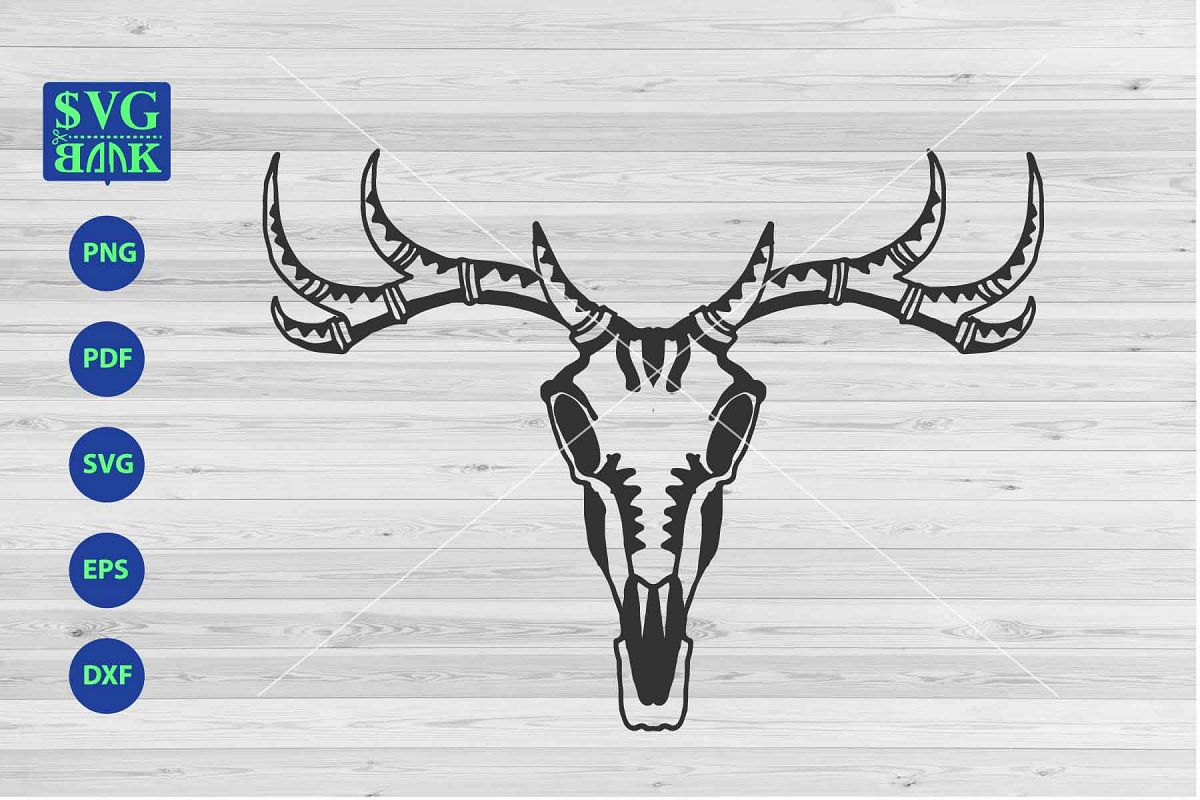 Head and brain and deer hunting clipart image black and white deer Skull Svg, hunting svg, halloween clipart, animal skull image black and white