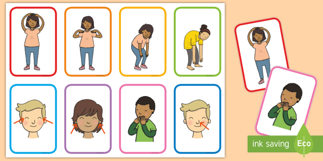 Head shoulders knees and toes clipart banner download Head Shoulders Knees and Toes Prompts - visual, prompt, cards banner download