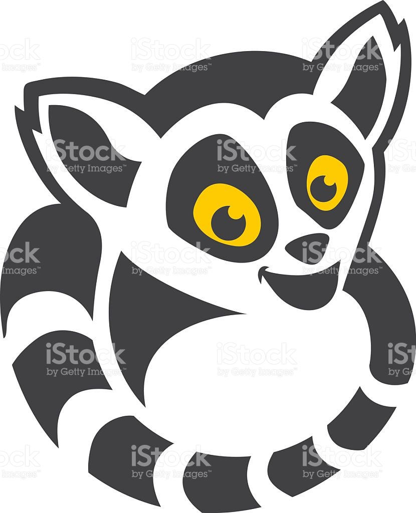 Head and tail clipart svg royalty free download Head And Tail Lemur Cartoon stock vector art 497022390 | iStock svg royalty free download