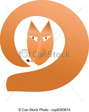 Head and tail clipart picture black and white EPS Vector of fox - head fox with a tail on a white background ... picture black and white