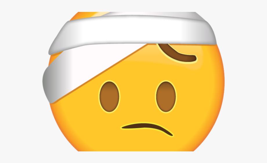 Head bandage clipart jpg freeuse stock Sad Emoji Clipart Hurt - Head Bandage Emoji Png #1852864 - Free ... jpg freeuse stock