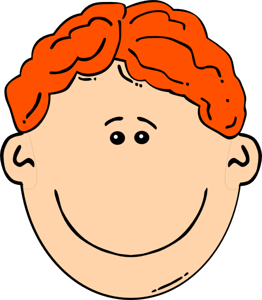 Head cartoon clipart png transparent library Smiling Red Head Boy Clip Art at Clker.com - vector clip art online ... png transparent library