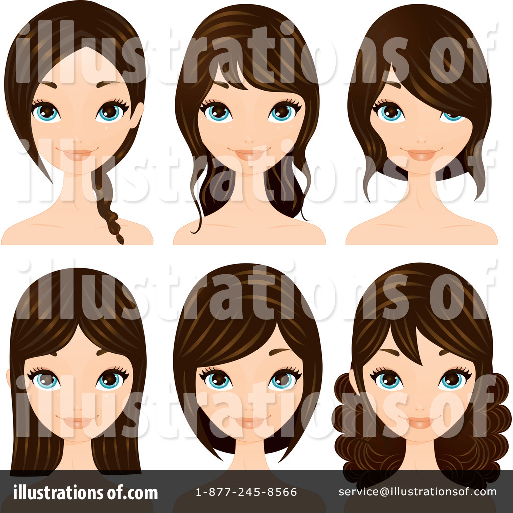 Free clipart hair styles png download Hair Styles Clipart #211729 - Illustration by Melisende Vector png download