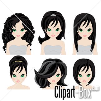 Head hair style clipart clip transparent stock CLIPART HAIRSTYLES | CLIPARTS | Cartoon hair, Hair vector, Hair styles clip transparent stock