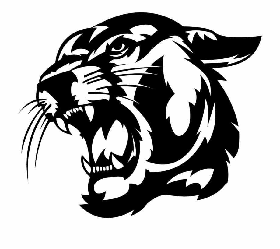 Head of mission clipart black and white download Znalezione Obrazy Dla Zapytania Puma Clip Art - Shawnee Mission ... black and white download