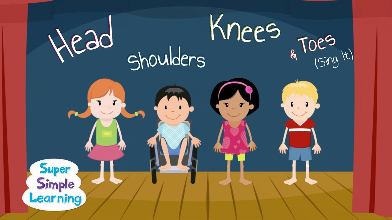 Head shoulders knees and toes clipart jpg royalty free download Head Shoulders Knees & Toes (Sing It) - Super Simple Songs jpg royalty free download