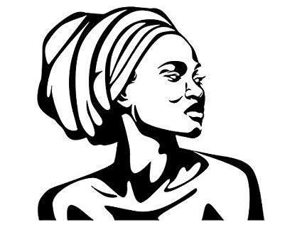 Head wrap clipart vector freeuse Amazon.com: EvelynDavid Black Woman Turban Head Wrap Stylish ... vector freeuse