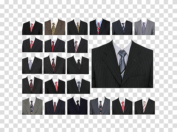 Headless red tie all black suit clipart picture royalty free download Assorted-color suit jacket collage, Suit Passport Clothing Formal ... picture royalty free download