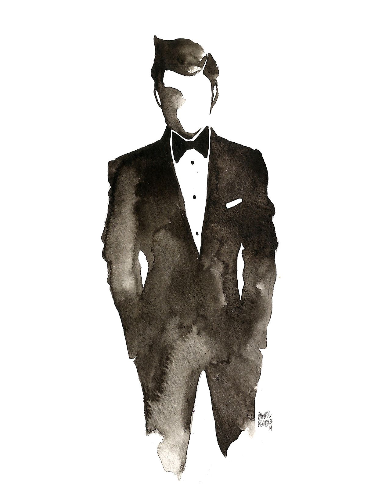 Headless red tie all black suit clipart free stock danvelasco21: \