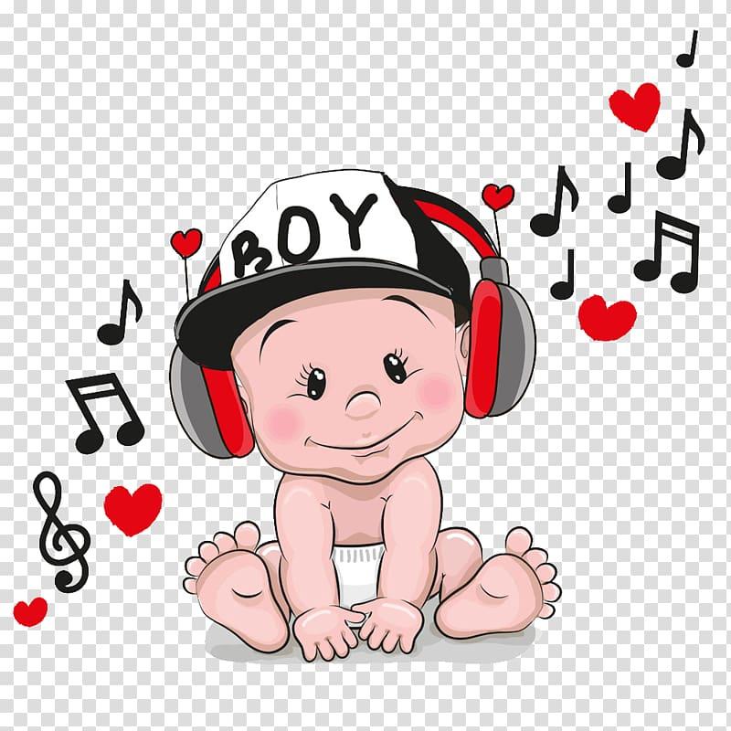 Headphones book clipart png royalty free library Baby wearing headphones , Headphones Cartoon , Music baby ... png royalty free library