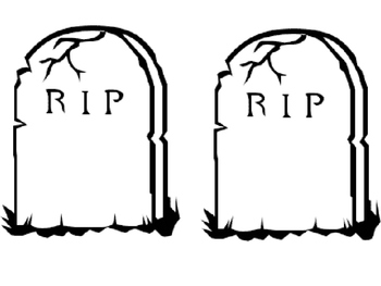 Headstone clipart banned words png library library DEAD WORDS! Burying Those Boring Words! {FREEBIE} png library library