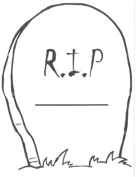 Headstone clipart banned words png library Word Tombstones Worksheets & Teaching Resources | TpT png library