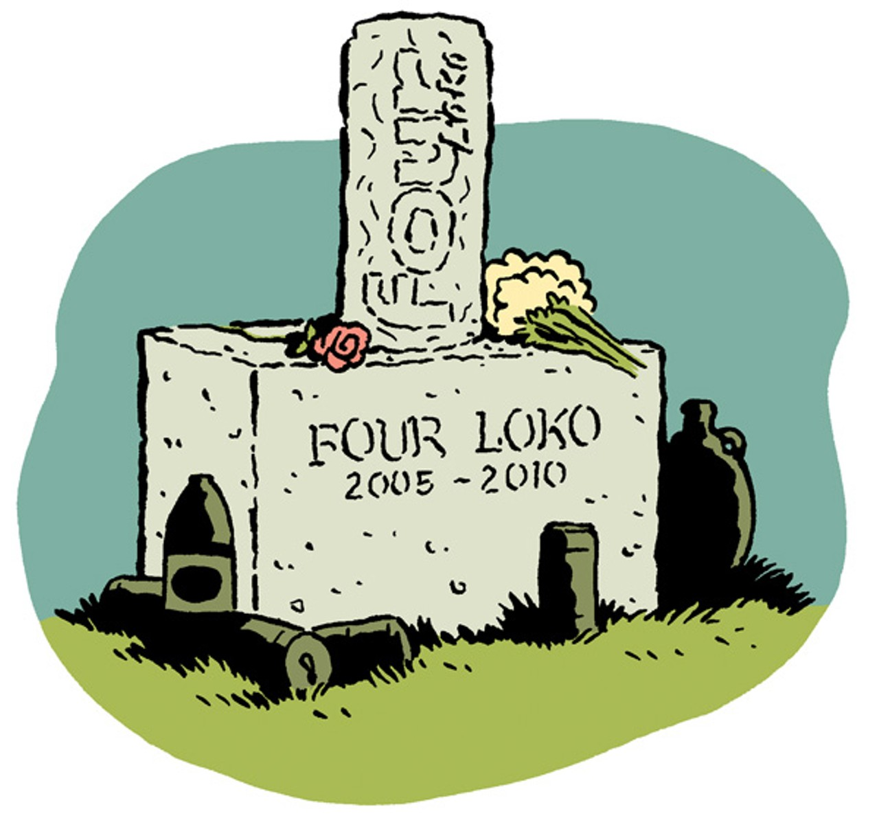 Headstone clipart banned words image freeuse stock The Life and Death of Four Loko | Culture | Oakland, Berkeley & Bay Area image freeuse stock