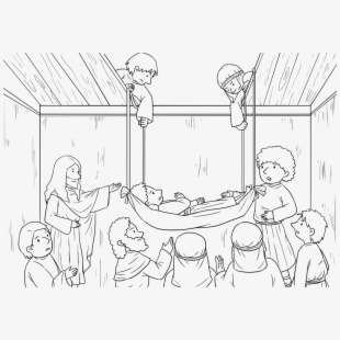 Healing the sick lds clipart black and white svg Jesus Clipart Healing - Jesus Heals The Paralyzed Man Clipart #61958 ... svg