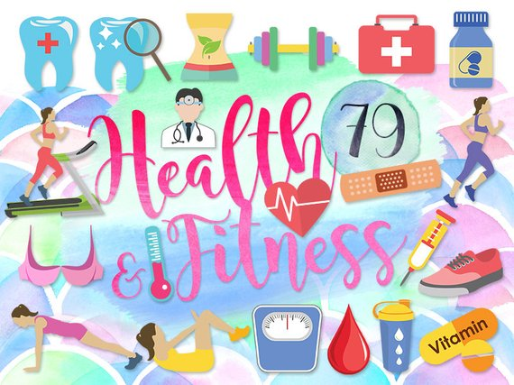 Health fitness clipart graphic royalty free download 79 Cute Health Clipart: \