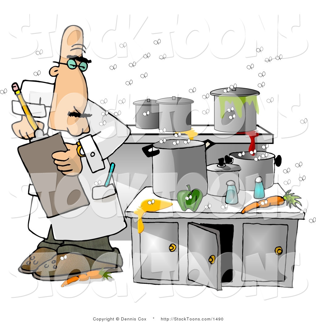 Health inspector clipart