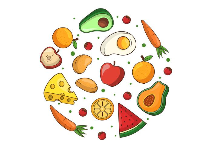 Healthy food clipart picture freeuse library Healthy Food Clipart - Download Free Vectors, Clipart ... picture freeuse library