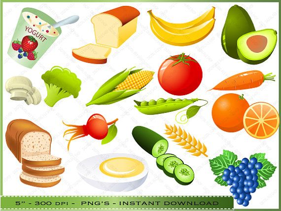 Healthy food clipart clip art Food Clipart - Clip Art of Healthy Foods - Commercial Use ... clip art