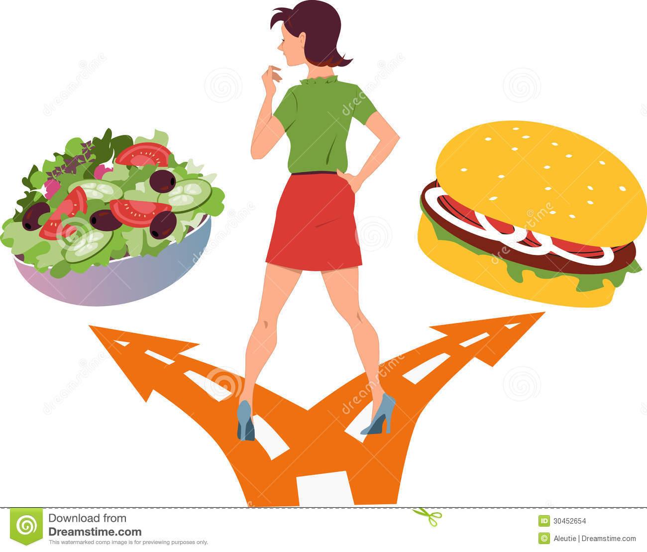 Healthy food vs junk food clipart vector Healthy food vs junk food clipart 8 » Clipart Station vector