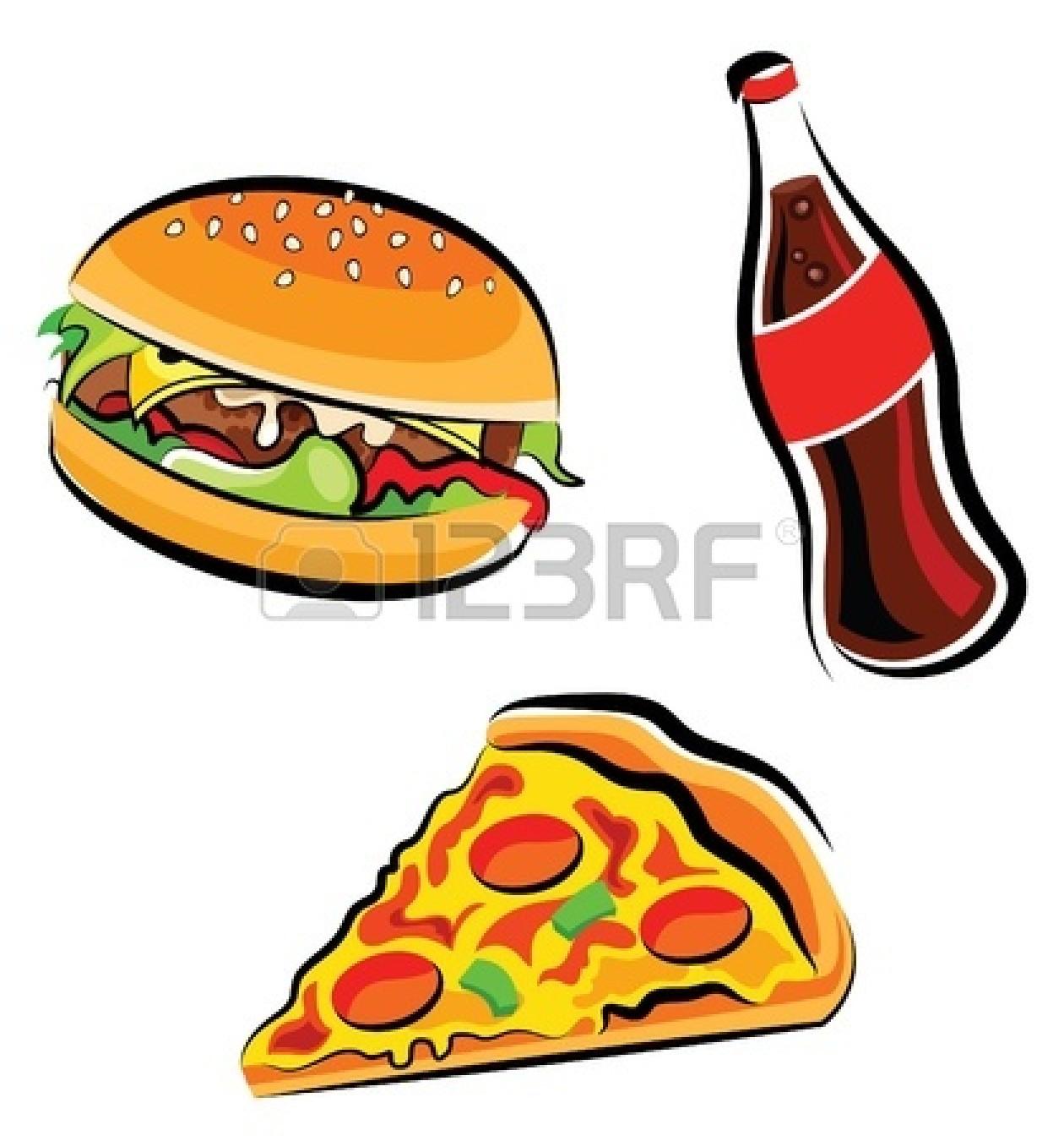 Healthy food vs junk food clipart vector black and white download Junk Food Vs Healthy Food | Clipart Panda - Free Clipart Images vector black and white download