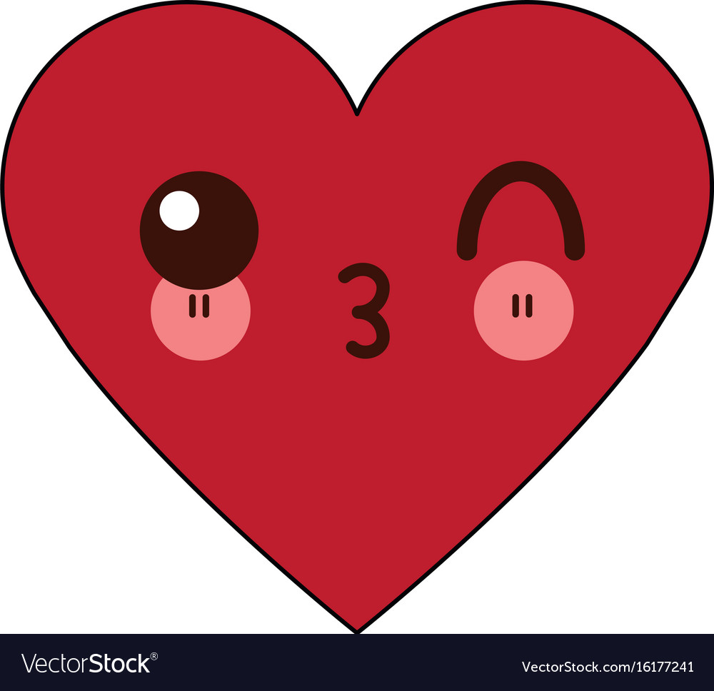 Healthy heart clipart free clipart royalty free Kawaii heart healthy love feeling cartoon clipart royalty free