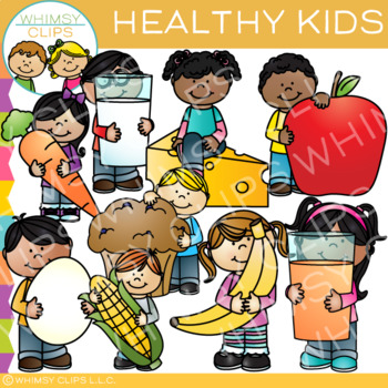 Healthy kids clipart vector transparent download Healthy Kids Clip Art vector transparent download
