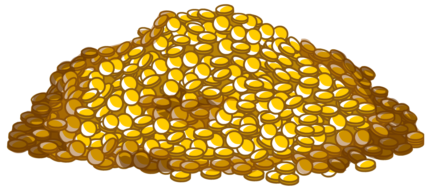 Heap of clipart gold coins transparent background svg freeuse Pile of gold coins clipart images gallery for free download ... svg freeuse
