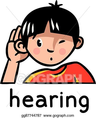 Hearing images clipart png free stock EPS Vector - Hearing sense icon. Stock Clipart Illustration ... png free stock