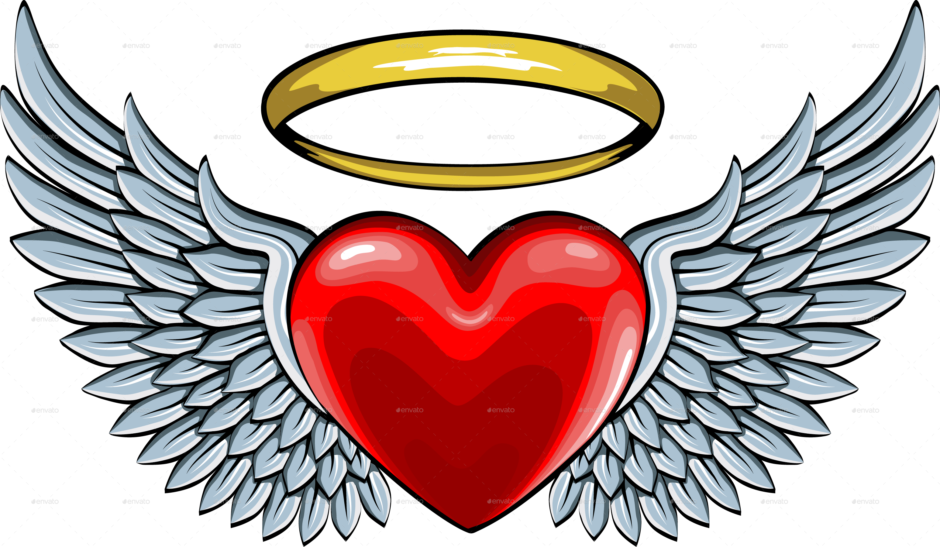 Heart with wings and halo clipart clip art library Heart With Wings Clipart | Free download best Heart With Wings ... clip art library