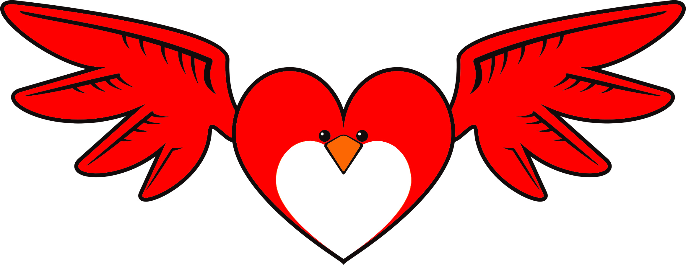 Heart and bird clipart vector royalty free download Clipart - Heart Bird vector royalty free download