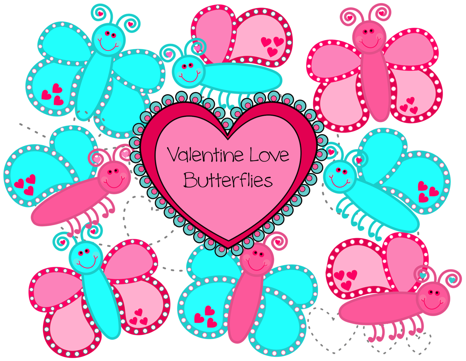 Heart butterfly clipart picture black and white download Classroom Treasures: Clip Art picture black and white download