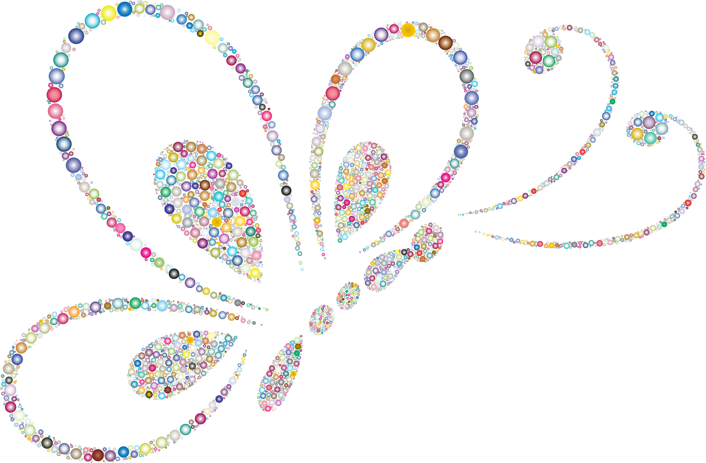 Heart butterfly clipart banner royalty free download Clipart - Prismatic Circles Butterfly Line Art 2 3 banner royalty free download