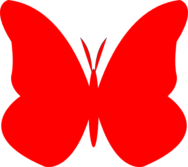 Heart butterfly clipart banner free download Bright Butterfly Clip Art at Clker.com - vector clip art online ... banner free download