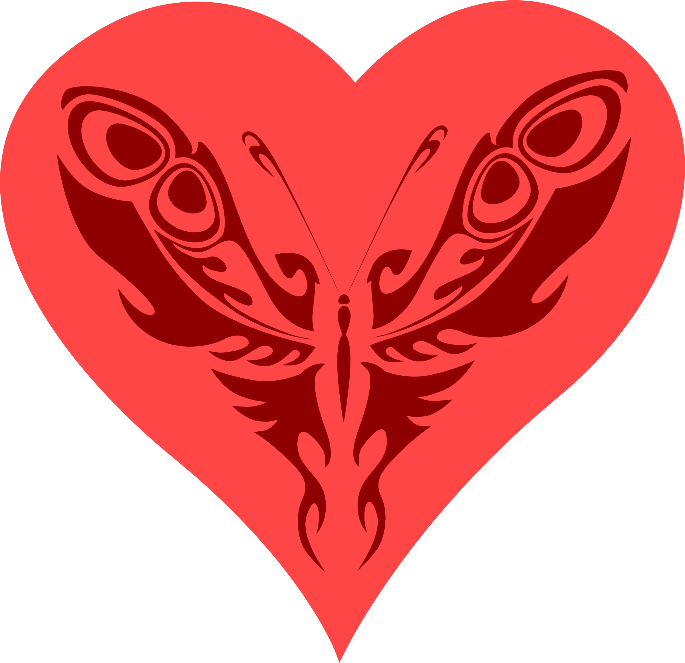Heart butterfly clipart image freeuse stock Clipart - Butterfly heart image freeuse stock