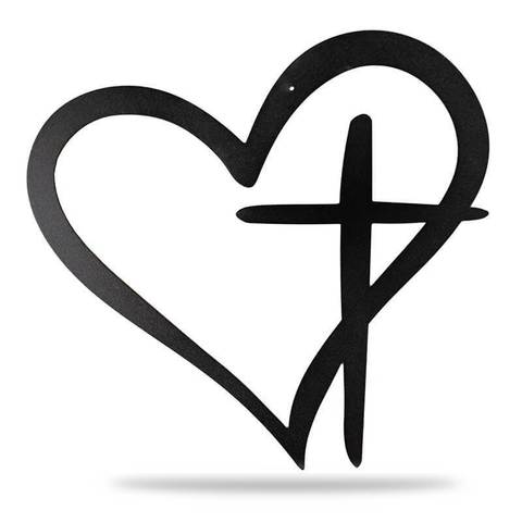 Heart and cross black and white clipart vector download Heart Cross – Redline Steel vector download