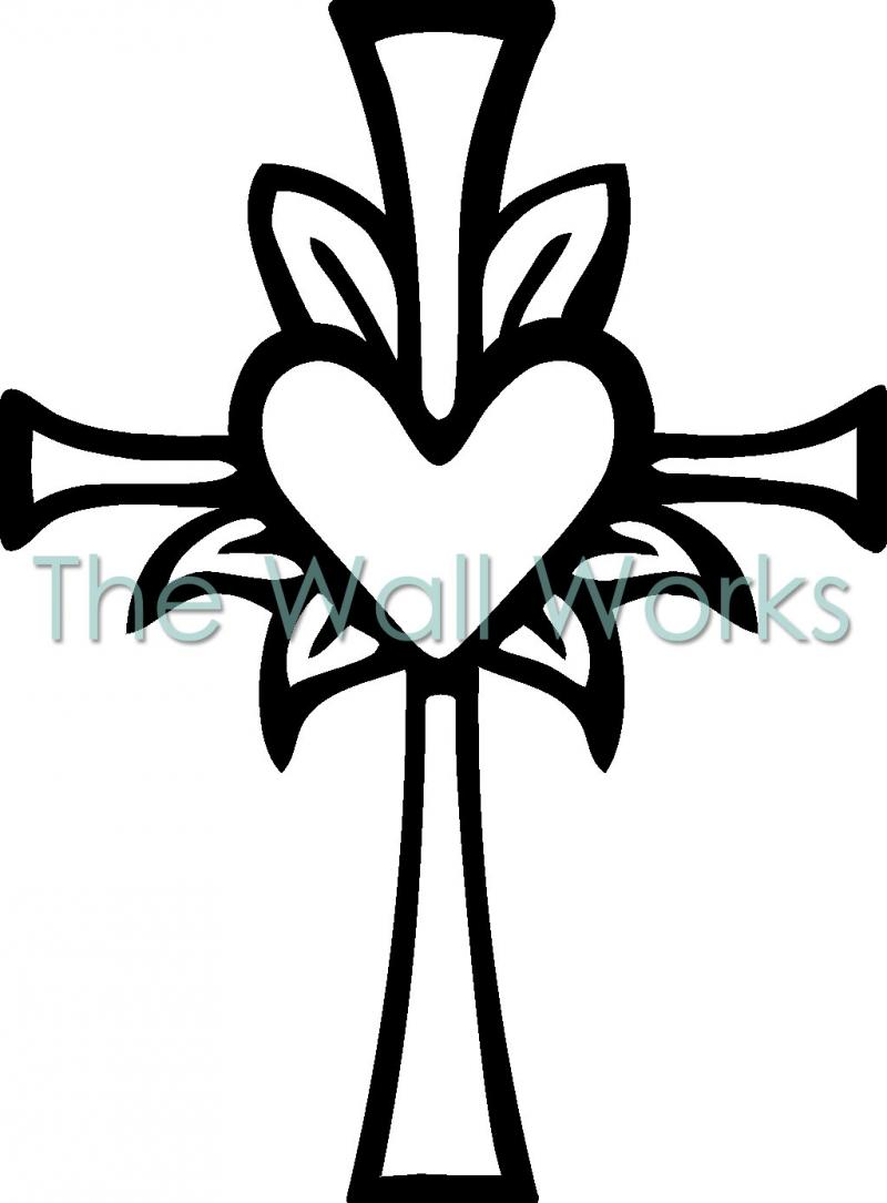 Heart and cross black and white clipart clip Crosses Black And White | Free download best Crosses Black ... clip